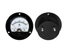 0- 20A DC Ammeter Amp Current Panel Meter Round Analogue Analog NEW