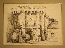 Architektur-Original Lithographie von 1813 bei Ackermanns, London-27x37,5 cm