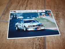 Photo / Photograph  Quester / Heger / Tassin BMW 635CSI 24 heures de Spa 1986 //