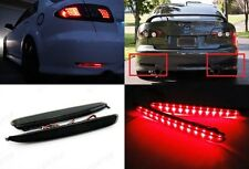 Black Smoked Lens LED Bumper Reflector Tail Brake Stop Light 03-08 Mazda6 Atenza