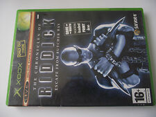 ORIGINAL XBOX GAME /  THE CHRONICLES OF RIDDICK / ESCAPE FROM BUTCHER BAY
