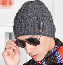 Cool Man Tough guy Winter knitted Beanie Crochet hat ski cap for men