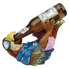 Tip it on Back Tropical Island Parrot Beer Bottle Holder Bar Pub Pool Sculpture