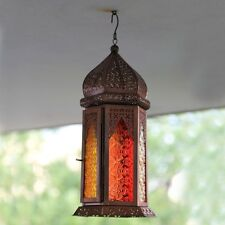 SHABBY CHIC HEXAGON ANTIQUEL COPPER MOROCCAN CANDLE LANTERN HOME GARDEN WEDDING