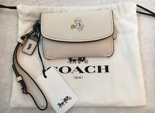 NWT Coach x Disney Mickey Mouse Chalk Beige Envelope Key Pouch Wristlet 66146