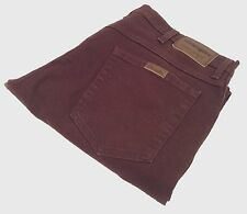 Men's Wrangler Regular Fit Jeans Retro Vintage Denim Brown W:36 L:29
