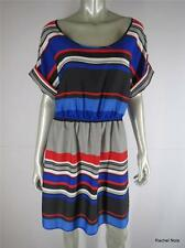 NWT $99 BANANA REPUBLIC 14 L Color Block Stripe Blue Red Dress Career Work NEW