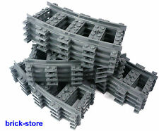 LEGO Railway darkgrey Tracks curved /16 Pcs