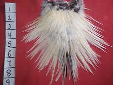 CREAM GAME BIRD SADDLE  FEATHERS FLY TYING MATERIALS CRAFTS  211