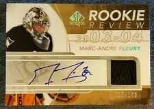 2008-09 08/09 SP AUTHENTIC SPA MARC-ANDRE FLEURY ROOKIE REVIEW AUTO PATCH /100