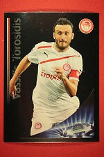 PANINI CHAMPIONS LEAGUE 2012/3 N 137 BEST PLAYER TOROSIDIS OLYMPIACOS BLACK MINT