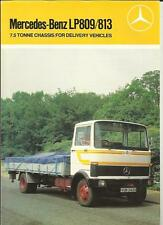 MERCEDES BENZ LP809/813 7.5 TONNE DELIVERY VEHICLES TRUCK LORRY BROCHURE 1983