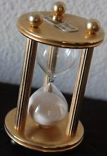 "5"" COULTER  Gen S Vint 3 m Sand Hour Clock Glass Timer Gold Tone It's about time"