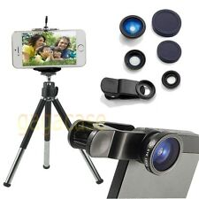 BK Cell Phone Tripod Stand +Mount Holder+3 Lens for iPhone 4 5 6 Galaxy S4 S5 S6