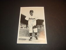 1956 Cleveland Indians Mike Garcia Glossy Postcard Autographed