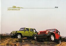 Jeep Wrangler 2007-08 German Market Brochure Sport Rubicon Unlimited Sahara