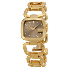 Gucci G-Gucci Brown Sunbrushed Diamond Dial Gold-Tone Ladies Wach YA125511