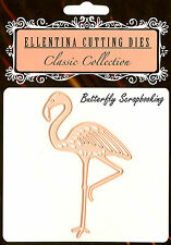 FLAMINGO BIRD Craft Cutting Die Ellentina DCN051 Die Tessler Crafts New
