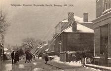 Telephone Disaster Haywards Heath Wivelsfield Road 1908 unused old pc Tullett