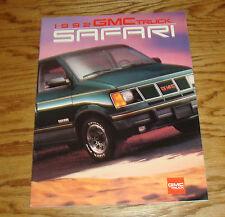 Original 1992 GMC Truck Safari Sales Brochure 92