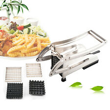 STAINLESS STEEL POTATO CHIP FRENCH FRIES MAKER CUTTER SLICER CHIPPER CHOPPER NEW