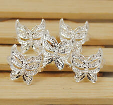 Hot  wholesale lots butterfly hollow 5PCS 925sterling silver  ring size 7-9 S015