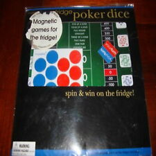 fridge play poker dice spin win magnetic games new fun
