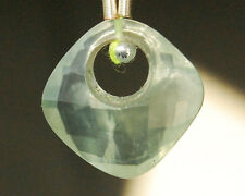 AA Natural Prehnite Faceted Cusion Briolette Gemstone Bead (1pc)