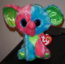 "Ty Beanie Boo's ~ ELFIE the 6"" Muti Color Elephant ~ 2014 NEW ~ Exclusive ~ MINT"