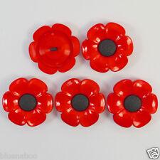 Bottoni A Forma Di Fiore Nero/Rosso Da 38mm x 5