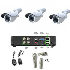 CCTV System 540TVL Sony CCD 3pcs camera 4ch full D1 DVR Kit Security System NTSC