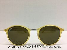 RayBan Authentic LightRay Round Yellow RB4242 6199/73 Sunglasses