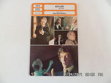 CARTE FICHE CINEMA 1972 ASYLUM Robert Powell Patrick Magee Barbara Parkins