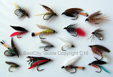 Fly Fishing FLIES WET FLY 16 Selection Classic TROUT BEST UK  PACK#5  QualityUK