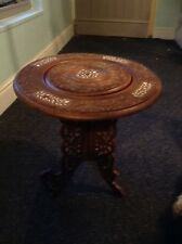 beautiful carved collapsible indian table damaged vintage