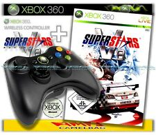 ORIGINAL MICROSOFT XBOX 360 WIRELESS CONTROLLER + SUPERSTARS V8 RACING NEU