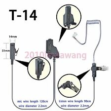2-wire Surveillance Earpiece For Motorola XTS2250 XTS2500 XTS4250 Portable Radio