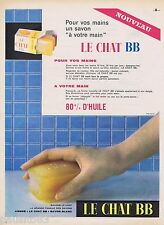 PUBLICITE ADVERTISING 115  1961  LE CHAT BB   savon