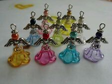 9 Pcs Handmade Angel Fairy Pendants / Charms
