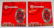 BREMBO 2 DISCHI FRENO ANTERIORI SERIE ORO per YAMAHA FZ 750 1985 1986 1987 1988