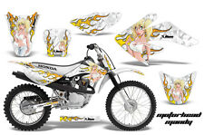AMR Racing Honda Graphic Kit Bike Decal CRF 70 Decal MX Parts 04-13 MOTO MANDY W