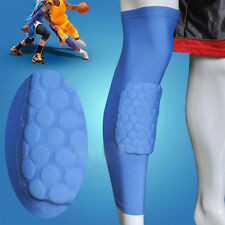 Crashproof Antislip Basketball Leg Knee Long Sleeve Protector Honeycomb Pad New