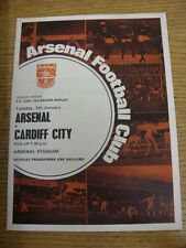 07/01/1969 Arsenal v Cardiff City [FA Cup Replay] (Small Pin Hole). Thanks for t