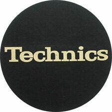 Slipmat Factory Technics Logo Slipmats (black, gold logo)