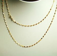 14k solid yellow gold 20 inches long mirror link very sparkly chain 1.0gram