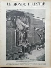 LE MONDE ILLUSTRE 1905 N 2535 LE PRINCE FERDINAND DE BULGARIE CONDUIT UN TRAIN