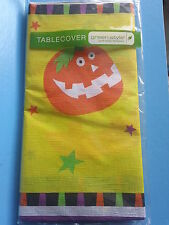 HALLOWEEN PAPER TABLECLOTH STARRY PUMPKIN Party Decoration Multi-Color