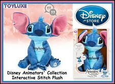 DisneyStore Animators' Collection Interactive Stitch 11'' Plush Disney Doll NEW