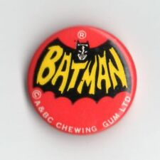 Vintage 1960s  A&BC Chewing Gum Batman Tin pin Badge - Cowl Logo