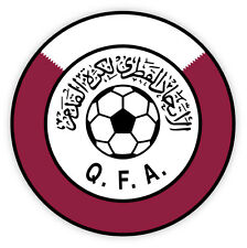 Qatar QFA Katar associatio football calcio adesivo etichetta sticker 10cm x 10cm